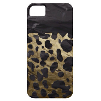 Gold/Black Metal Textured Cheetah iPhone 5 Case