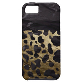 Gold/Black Metal Textured Cheetah iPhone 5 Cover