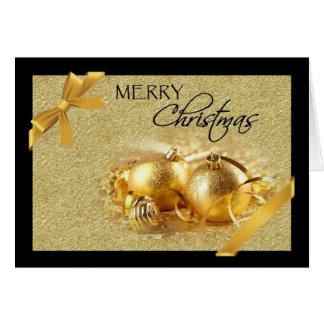 Gold Black Ornament Christmas Card
