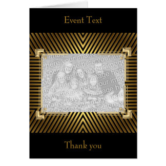 Gold Black Photo Event or Thank you Card