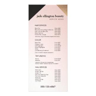 Gold, Black Pink Salon Spa Price List Service Menu