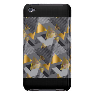 Gold Black Silver Abstract Pattern Design iPod Touch Case