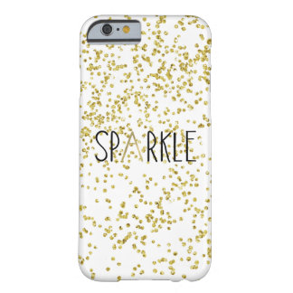 Gold Black Sparkle Confetti Barely There iPhone 6 Case