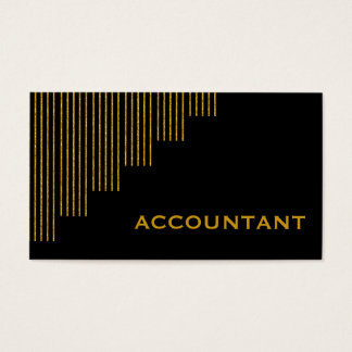 Gold, black vertical stripes accountant