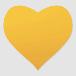 Gold Blank TEMPLATE : Add text, image, fill color Heart Sticker
