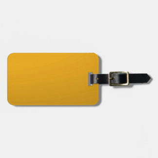 Gold Blank TEMPLATE : Add text, image, fill color Luggage Tag