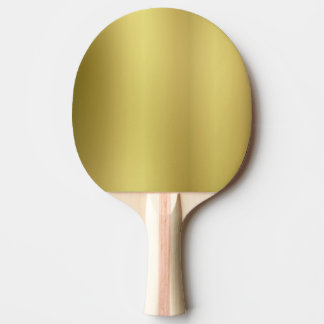 Gold Blank Template Ping Pong Paddle