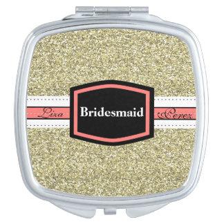 Gold Bling Bridesmaid Gift Vanity Mirror