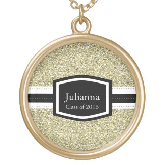 Gold Bling Personalized Graduation Gold Plated Necklace