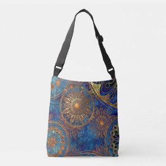 Gold & Blue Crossbody Bag