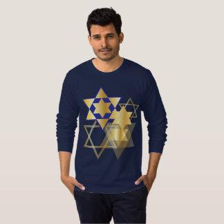 Gold & Blue Stars of David T-Shirt