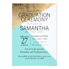 Gold Blue White Geo Triangles Graduation Ceremony Card