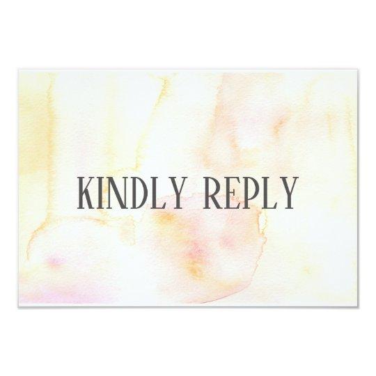 Gold Blush and Pink Response RSVP Card