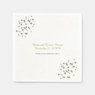 Gold Blush Confetti Dots Paper Serviettes