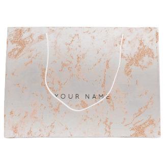 Gold Blush Marble Metallic Gift Gray Silver Peach Large Gift Bag