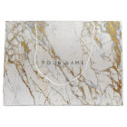 Gold Blush Marble Metallic Gift Grey Silver VIP Large Gift Bag