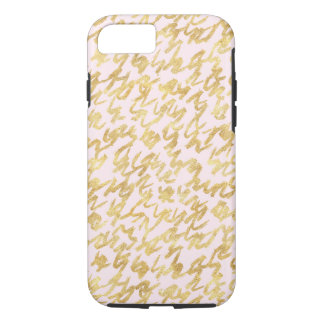 Gold Blush Pink Squiggles iPhone 8/7 Case