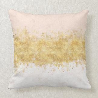 Gold Blush Pink Watercolor Glam Cushion