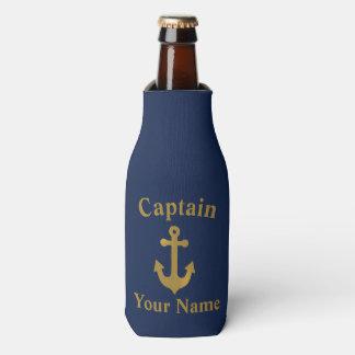 Gold Boat Anchor Captain Bottle Cooler
