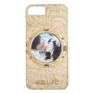 Gold Boat Porthole Your Photo Musical Notes iPhone 7 Case