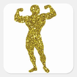 Gold Bodybuilding Sticker