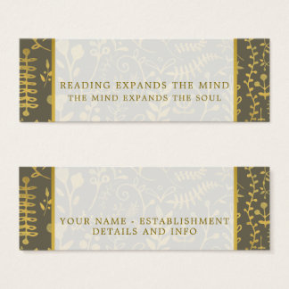 Gold Boho Bookmarks Mini Business Card
