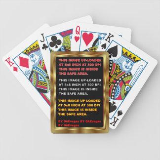 Gold Border Card Template 30 color View Notes plse Poker Deck