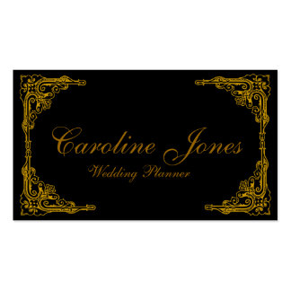 Gold Border Pack Of Standard Business Cards