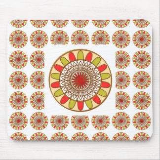 Gold Border SUNFLOWER Chakra Mandala Mouse Pad