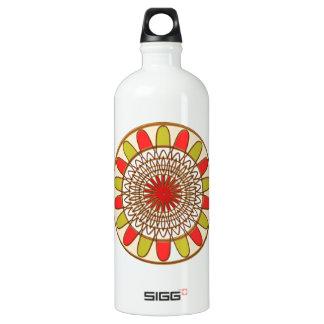 Gold Border SUNFLOWER Chakra Mandala SIGG Traveller 1.0L Water Bottle