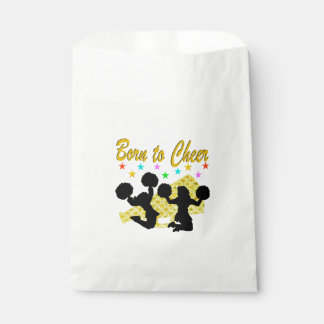 GOLD BORN TO CHEER MEGAPHONE CHEERLEADER FAVOUR BAGS