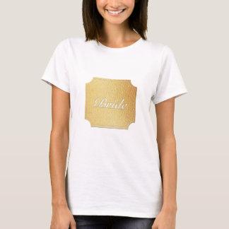 gold bridal shirt