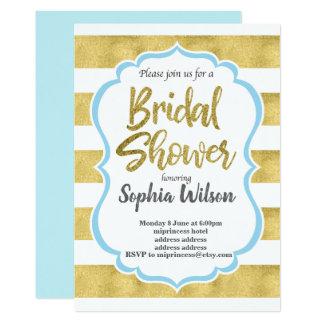 Gold Bridal Shower Card