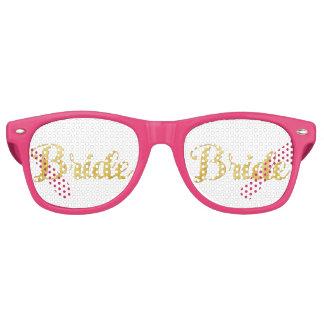 Gold bride retro sunglasses