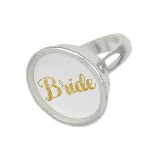 Gold bride ring