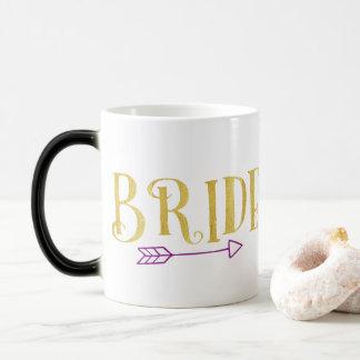 GOLD BRIDE TRIBE WITH PURPLE ARROW MAGIC MUG