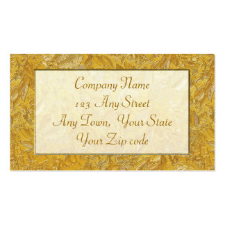 gold brocade business cards