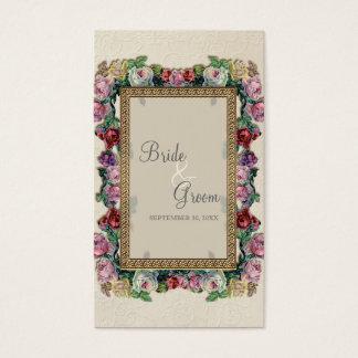 Gold Brocade Floral Formal Elegant Seating Cards