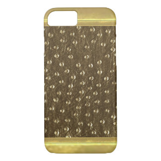 Gold Bronze Metallic Pattern iPhone 7 Case