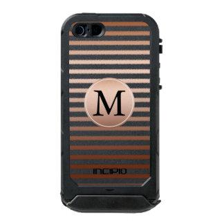Gold Bronze Ombre Stripes monogram Incipio ATLAS ID™ iPhone 5 Case