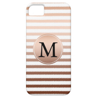 Gold Bronze Stripes Ombre Monogram iPhone 5 Covers