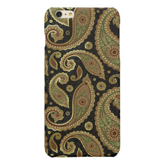 Gold Brown And Green Pastel Tones Vintage Paisley