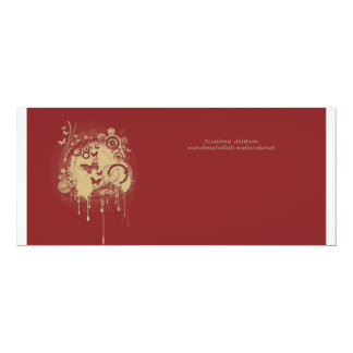 gold brown card