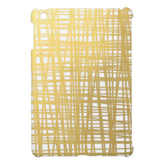 Gold Brushstroke Watercolor Stripes Cover For The iPad Mini