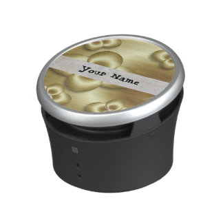 gold bubbles bluetooth speaker