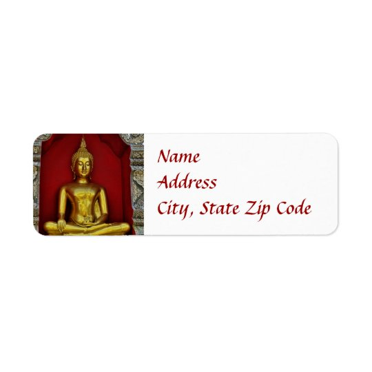 Gold Buddha Label Return Address Label