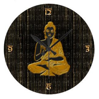 gold Buddha Large Clock