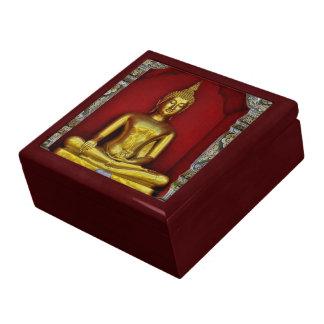 Gold Buddha Mahogany Gift Box