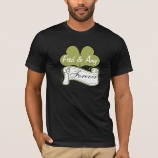Gold Butterfly Hearts, Scroll, Fred & Amy, Forever T-Shirt