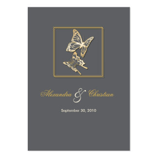Gold Butterfly RSVP Wedding Announcement Minicard Pack Of Chubby Business Cards
